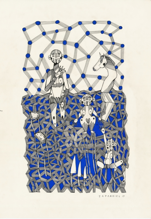 Zeitgeist |Dibujo de Lucas Zapardiel | Compra arte en Flecha.es