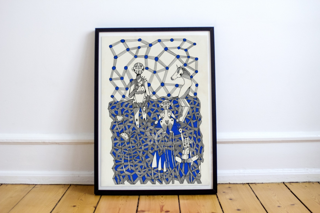 Zeitgeist | Dibujo de Lucas Zapardiel | Compra arte en Flecha.es