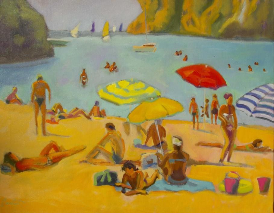 Cala menorquina |Pintura de José Bautista | Compra arte en Flecha.es