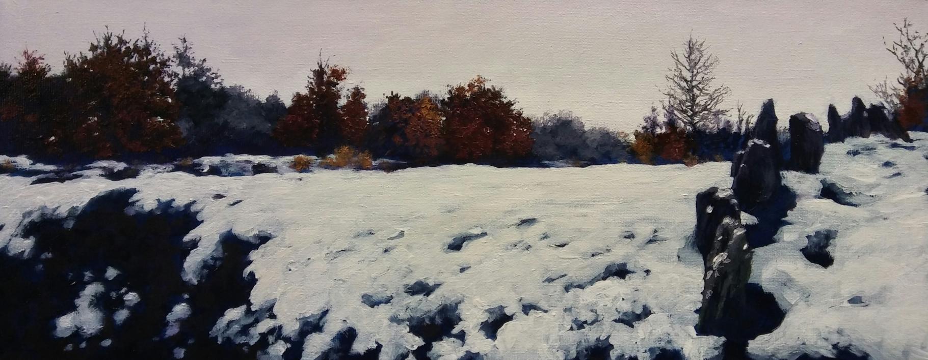 Paisaje Nevado |Pintura de Tomás Guzmán | Compra arte en Flecha.es