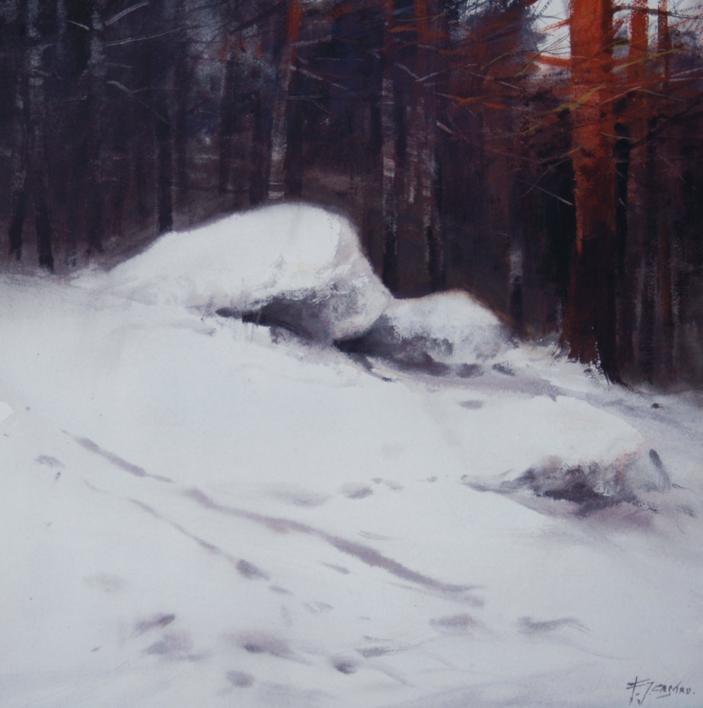 Winter Landscape IV |Pintura de Francisco Castro | Compra arte en Flecha.es
