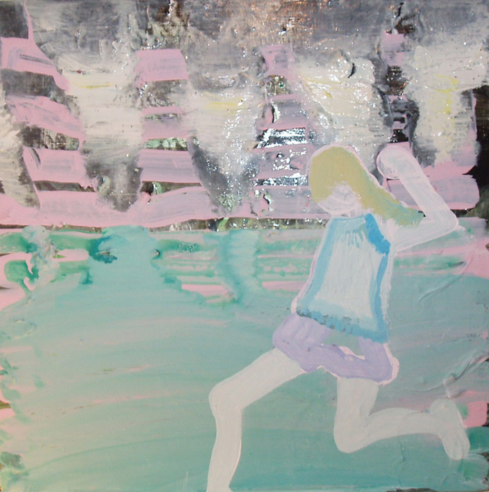 niña corriendo |Pintura de Rosita Ibañez Martin | Compra arte en Flecha.es