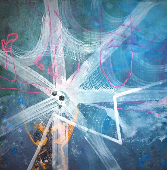 El pelotazo |Pintura de Rosita Ibañez Martin | Compra arte en Flecha.es