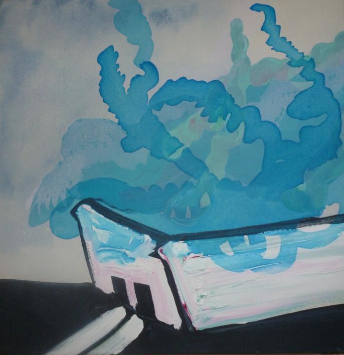 Contenedor NUBE |Pintura de Rosita Ibañez Martin | Compra arte en Flecha.es