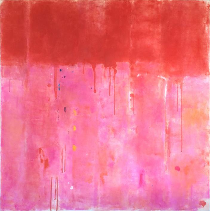 Rose field |Pintura de Luis Medina | Compra arte en Flecha.es