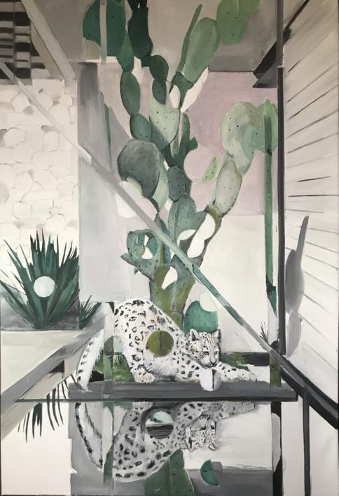 Leopardo de las nieves |Pintura de Marta Albarsanz | Compra arte en Flecha.es