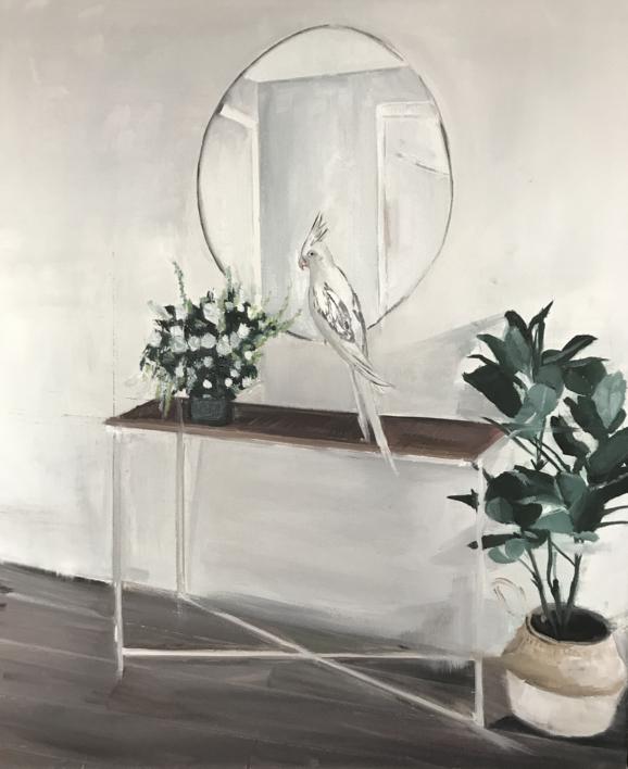 La trampa del espejo |Pintura de Marta Albarsanz | Compra arte en Flecha.es