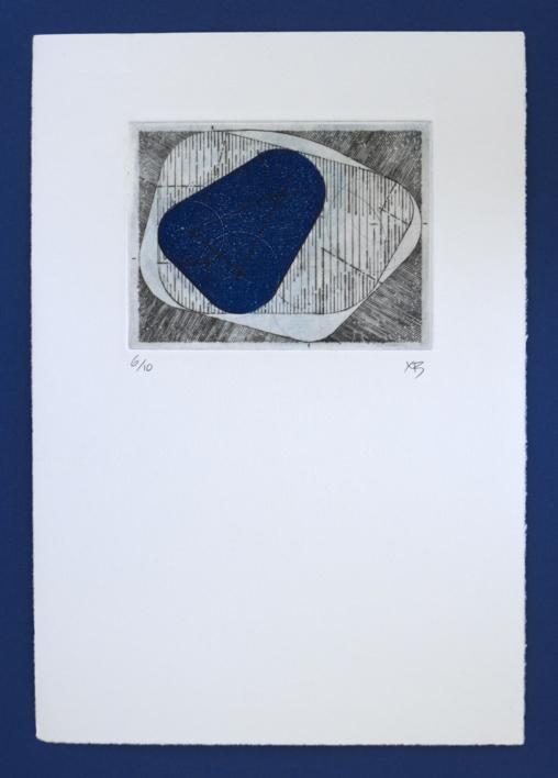 Bisectrices - Azul |Obra gráfica de Ximena Bianco | Compra arte en Flecha.es