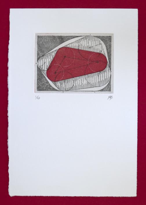 Bisectrices - Rojo |Obra gráfica de Ximena Bianco | Compra arte en Flecha.es