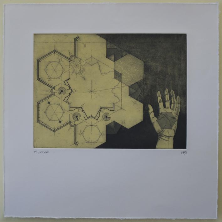 Infinite Hexagons |Obra gráfica de Bianco Ximena | Compra arte en Flecha.es