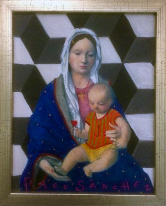 Virgen Guapa de la geometría |Pintura de Paco Sánchez | Compra arte en Flecha.es