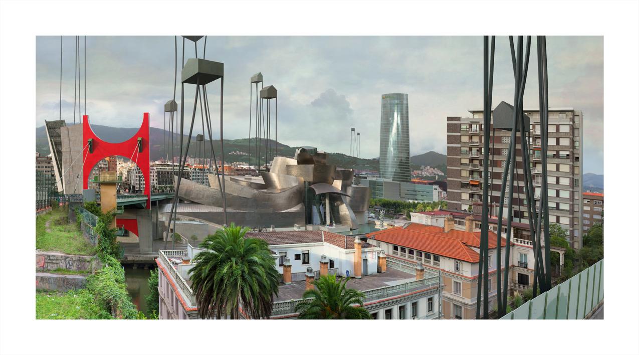 Bilbao (Palmeras) |Digital de Paco Díaz | Compra arte en Flecha.es