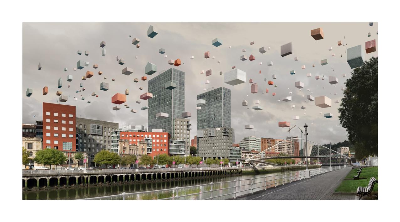 Bilbao (Zubizuri)  Digital de Paco Díaz   Compra arte en Flecha.es