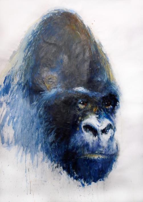 retratos ilustres nº 3  Pintura de saiz manrique   Compra arte en Flecha.es