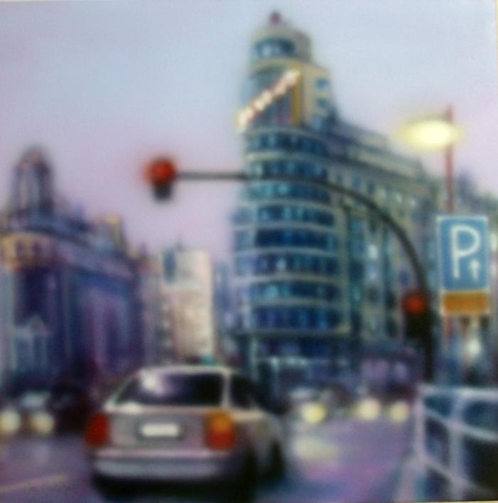 metrópolis nº 44 |Pintura de saiz manrique | Compra arte en Flecha.es
