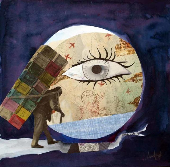 Un gran paso |Collage de Ana Agudo | Compra arte en Flecha.es