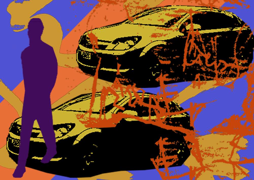 Coches |Ilustración de androck | Compra arte en Flecha.es