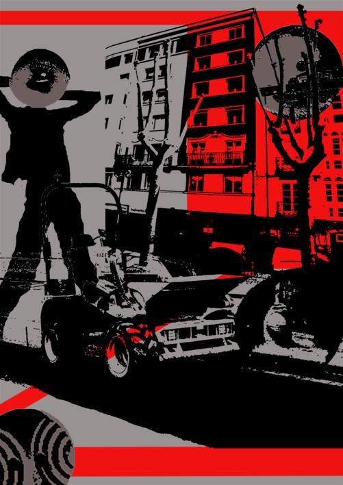 Ciudad extraña |Ilustración de androck | Compra arte en Flecha.es
