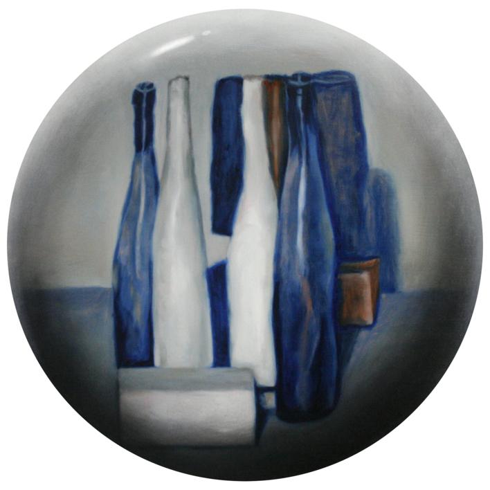 Bodegón azúl |Pintura de Enrique González | Compra arte en Flecha.es
