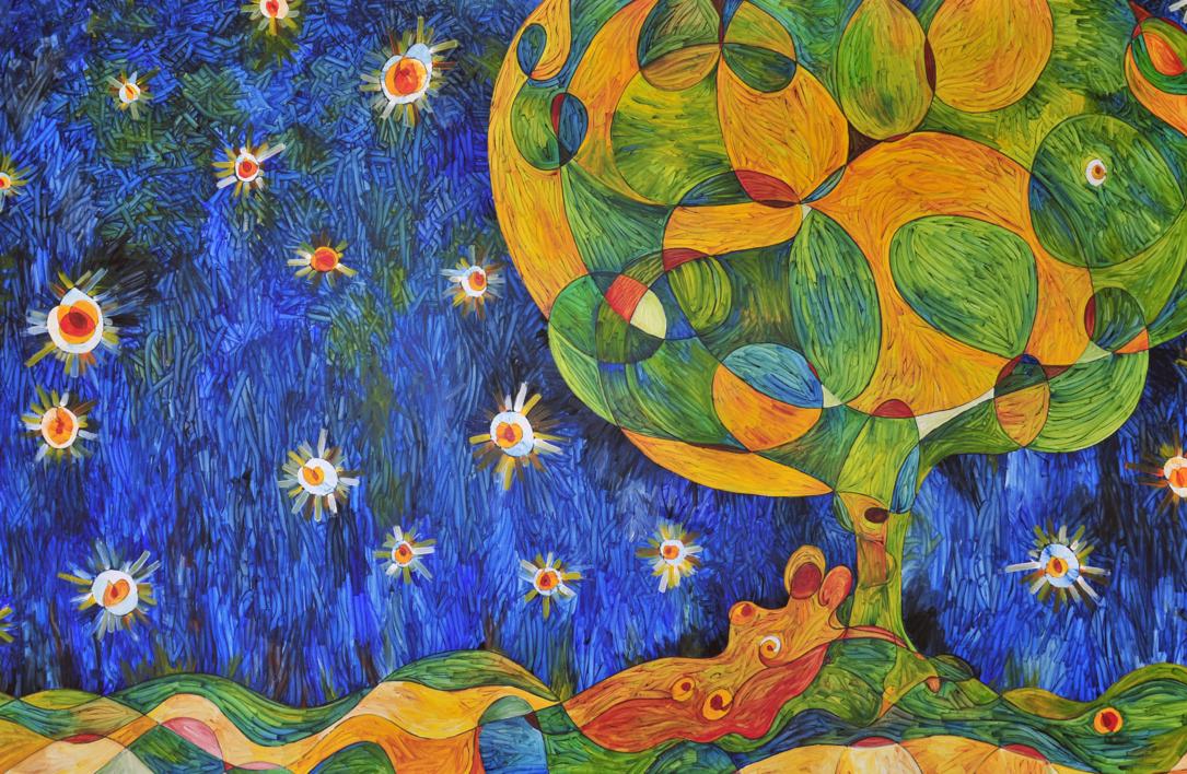 la nit de les ànimes - la noche de las almas |Pintura de RICHARD MARTIN | Compra arte en Flecha.es