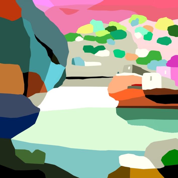 El barranco |Digital de ALEJOS | Compra arte en Flecha.es