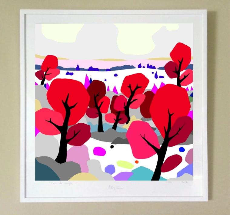 Árboles rojos | Digital de ALEJOS | Compra arte en Flecha.es
