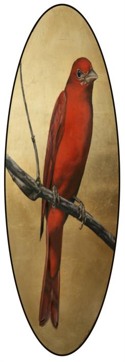 Canario rojo |Dibujo de Enrique González | Compra arte en Flecha.es