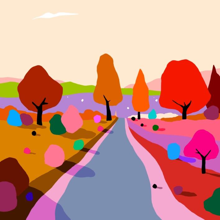 Atardecer de otoño |Digital de ALEJOS | Compra arte en Flecha.es