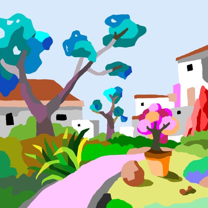 Casas blancas |Digital de ALEJOS | Compra arte en Flecha.es