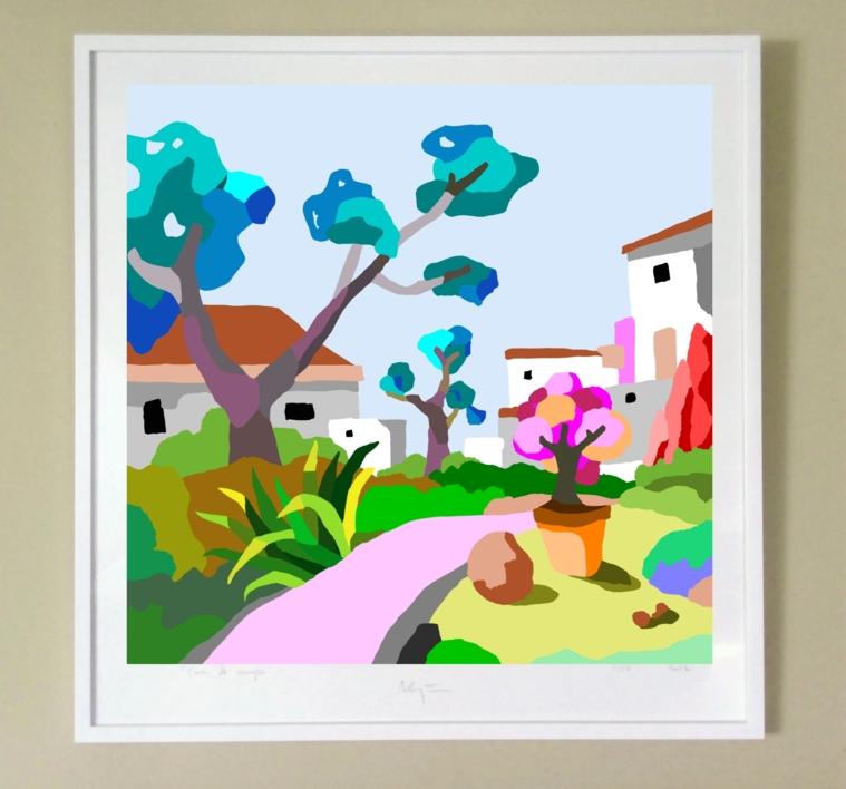 Casas blancas | Digital de ALEJOS | Compra arte en Flecha.es
