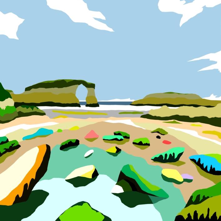 Playa de Las Catedrales |Digital de ALEJOS | Compra arte en Flecha.es