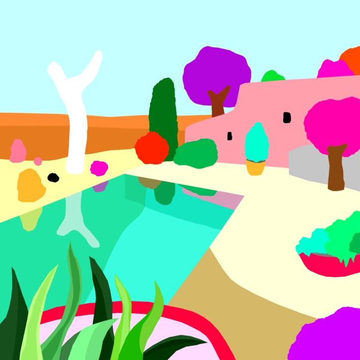 Casa soñada |Dibujo de ALEJOS | Compra arte en Flecha.es
