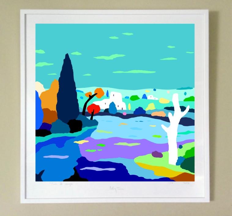 Casas en el lago   Digital de ALEJOS   Compra arte en Flecha.es