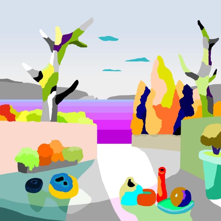Juegos de verano |Dibujo de ALEJOS | Compra arte en Flecha.es