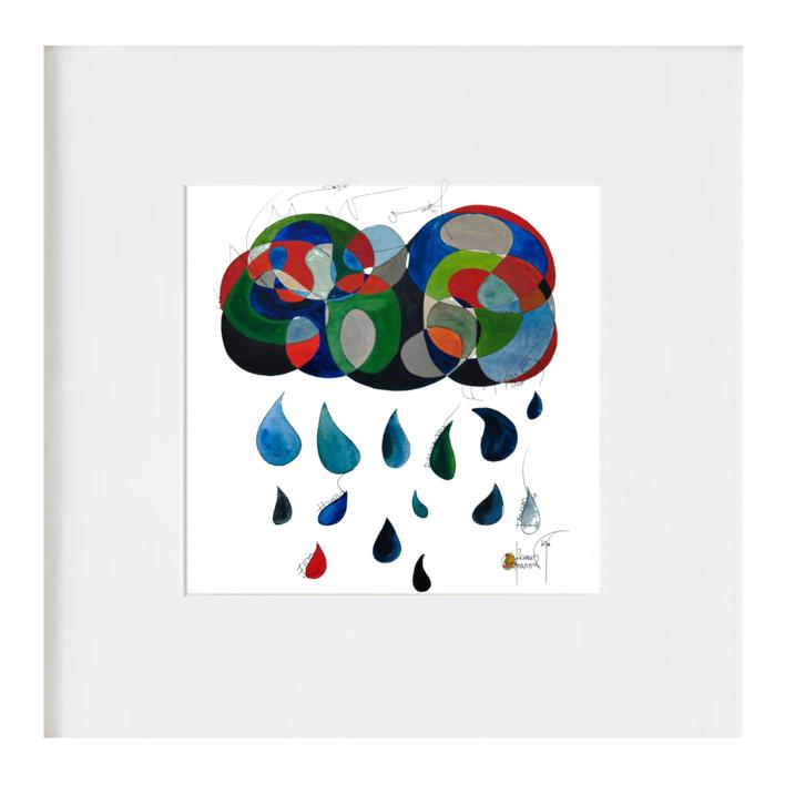 La nube |Ilustración de RICHARD MARTIN | Compra arte en Flecha.es