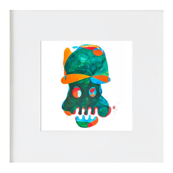 la calavera simpatica |Ilustración de RICHARD MARTIN | Compra arte en Flecha.es