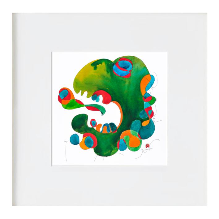 el dragon verde |Ilustración de richard martin | Compra arte en Flecha.es
