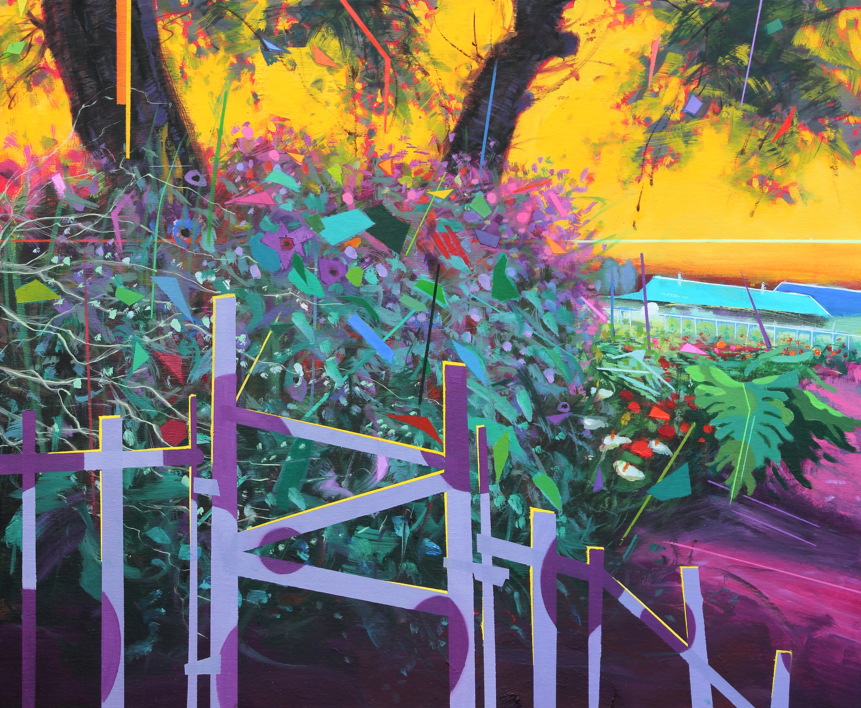 Paraiso 5  Pintura de Benito Salmerón   Compra arte en Flecha.es