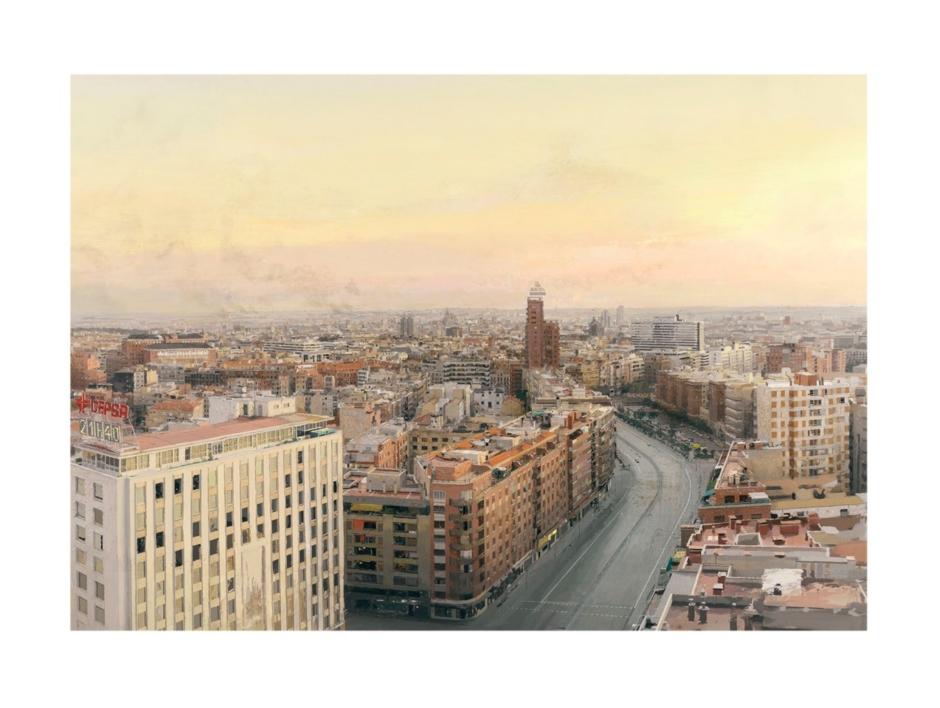 Madrid desde Torres Blancas |Obra gráfica de Antonio López | Compra arte en Flecha.es