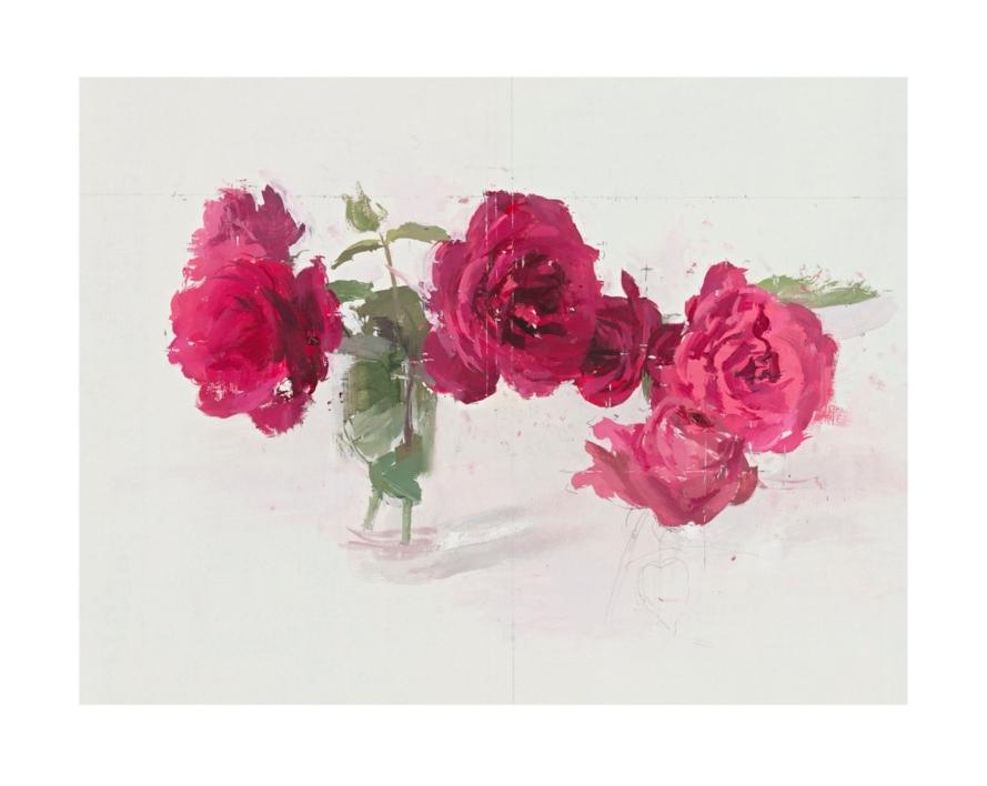 Rosas rojas |Obra gráfica de Antonio López | Compra arte en Flecha.es