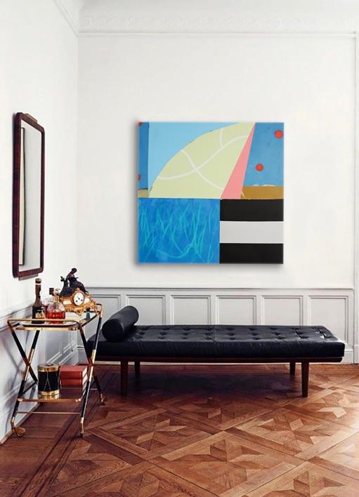 Asimetría #4 |Pintura de Nadia Jaber | Compra arte en Flecha.es