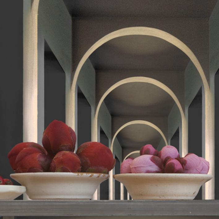 Bodegón con arcos |Fotografía de Leticia Felgueroso | Compra arte en Flecha.es