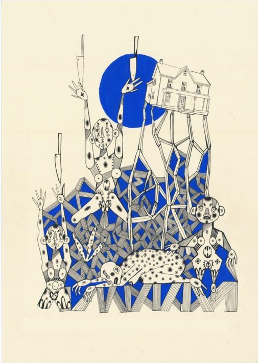 Filofobia |Ilustración de Lucas Zapardiel | Compra arte en Flecha.es