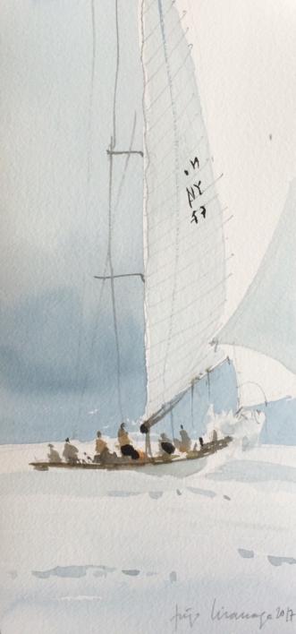 Viento en popa |Pintura de Iñigo Lizarraga | Compra arte en Flecha.es