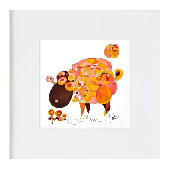El bon pastor - el buen pastor |Ilustración de RICHARD MARTIN | Compra arte en Flecha.es
