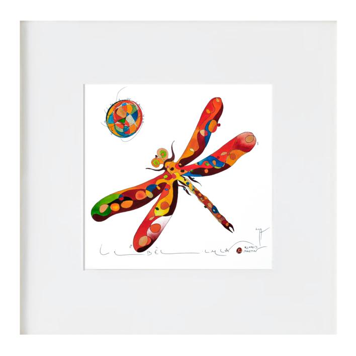 La libélula |Ilustración de richard martin | Compra arte en Flecha.es
