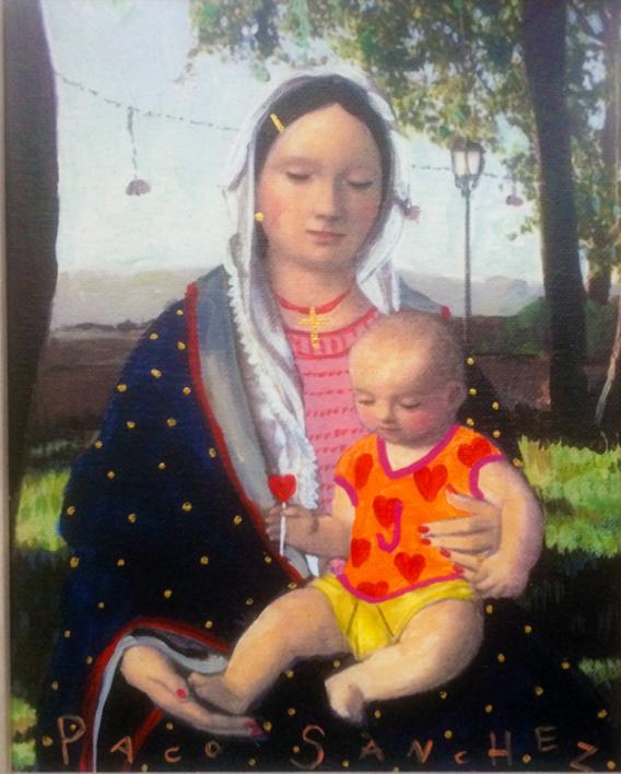 Virgen Guapa del Amor |Pintura de Paco Sánchez | Compra arte en Flecha.es