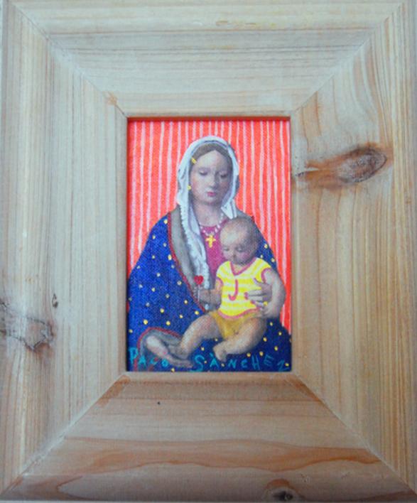 Guapita de las perlas |Pintura de Paco Sánchez | Compra arte en Flecha.es