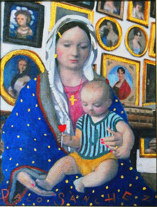 Virgen Guapa de los  Coleccionistas |Pintura de Paco Sánchez | Compra arte en Flecha.es