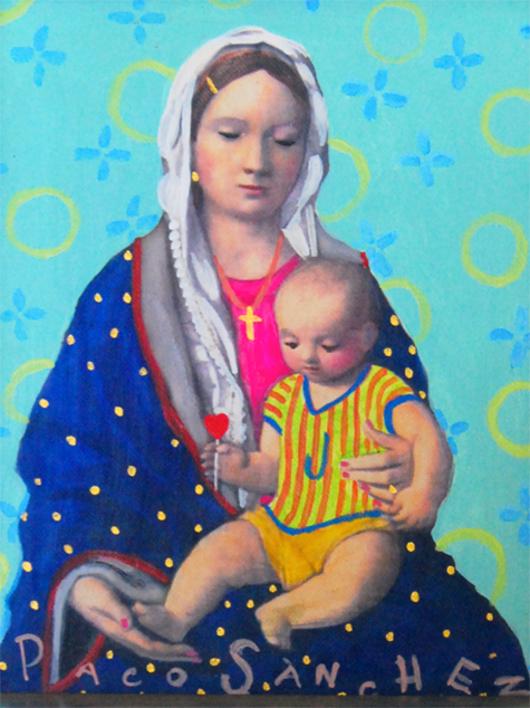 Virgen Guapa Chic |Pintura de Paco Sánchez | Compra arte en Flecha.es